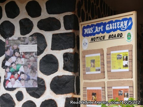 Mus'Art Gallery, Notice Board - Mus'Art Gallery: Grass-fields Arts Museum Cameroon