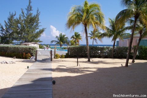 Landscaped grounds - Caribe Sands Beach Resort - Dive Cayman Brac