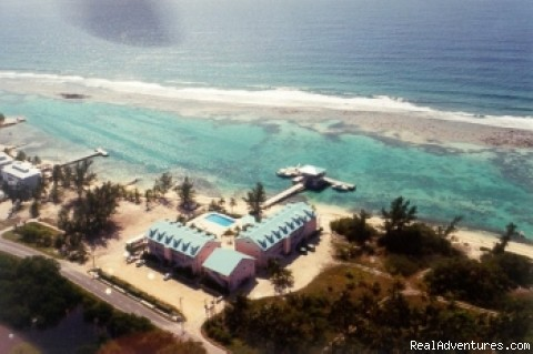 Aerial view - Caribe Sands Beach Resort - Dive Cayman Brac