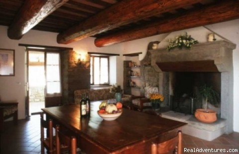 Restored Living Area in Tuscany Style - Villa Cuiano