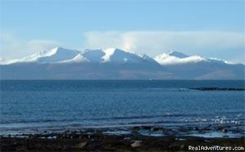 Arran in winter, from Seamill Beach - Fabulous Views Of The Isle Of Arran