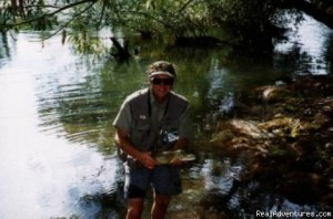 Fly Fishing Australia wilderness streams horseback Alexandra, Australia Fishing Trips