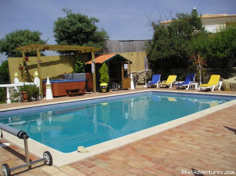 Quintassential Pool Area - Casa do Forno Cottage, a rustic getaway cottage