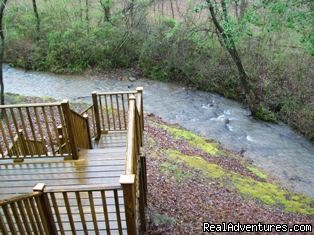 Great Noisy Creek view from the multi-level deck! - A Singing Creek Awaits You At This Mtn Cabin