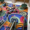 Colorful arts hotel carpeting