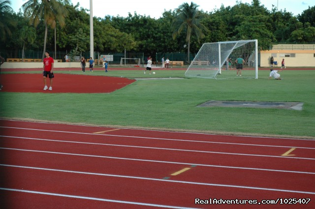 Track, soccer, aerobics, Tennis at the Park - El Prado Villas, Ocean Park, San Juan's best beach