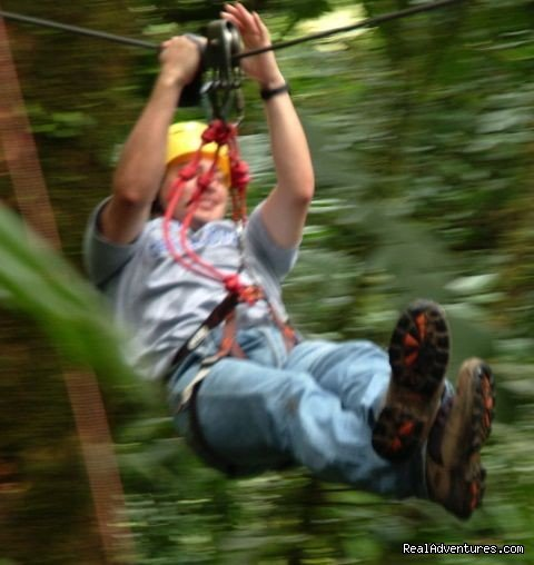 Zip lining through the rain forest at Arenal Volcano | Image #13/19 | Bill Beard's Costa Rica 2017-18 Vacation Packages
