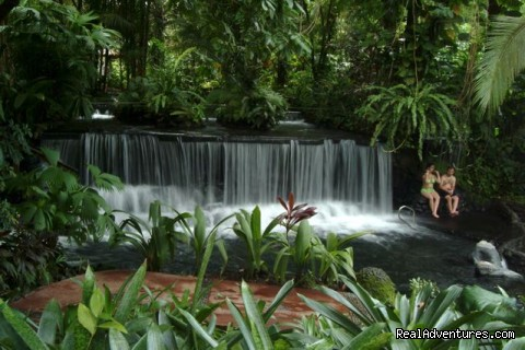 Hot Springs waterfalls - Bill Beard's Costa Rica 2016 Vacation Packages