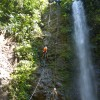 One of many waterfalls on the canyoning tour
