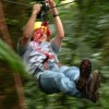 Zip lining through the rain forest at Arenal Volcano