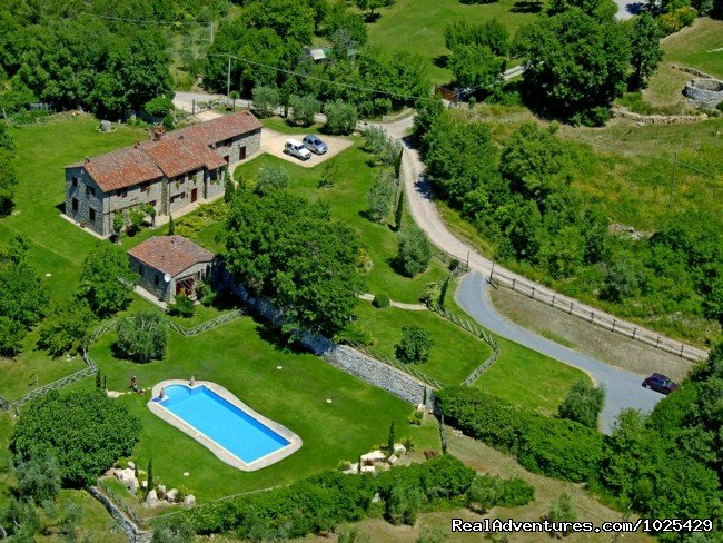 From the sky | Image #1/10 | Parrano, Italy | Vacation Rentals | Stone House Retreat - Antica Fattoria di Pietra
