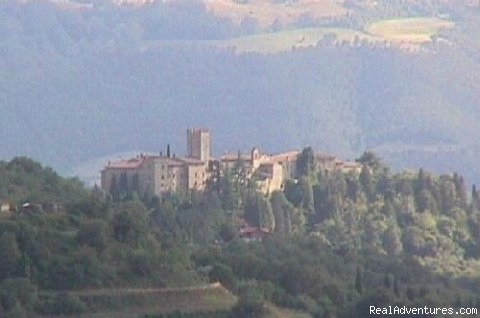 View of Parrano castle - Stone House Retreat - Antica Fattoria di Pietra