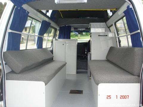 Interior View - Affordable Campervan Hire