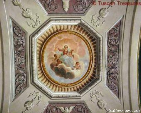 One of the frescoed domes (#2 of 6) - Casa Beata - Cortona, Italy
