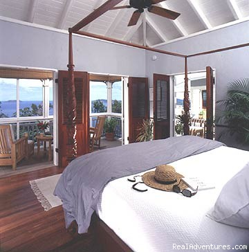 Villa's bedroom with great views - Virgin Islands Luxury Vacation Villas