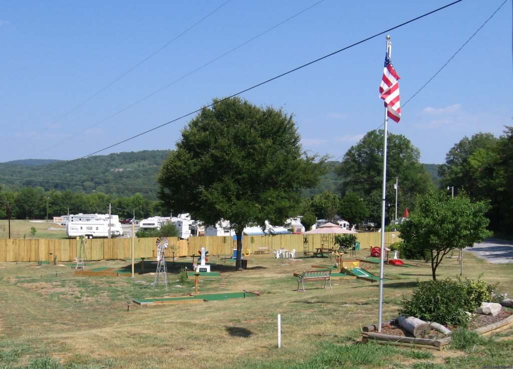We have added a pool,club house,propane,mini golf,pull thrus,FREE WIFI. Our RV Park is located at mile marker 125 on Hwy 72 between Huntsville & ScottsboroAL. Check us out on the web.  Give us a chance to show you some southern hospitality. Have fun.