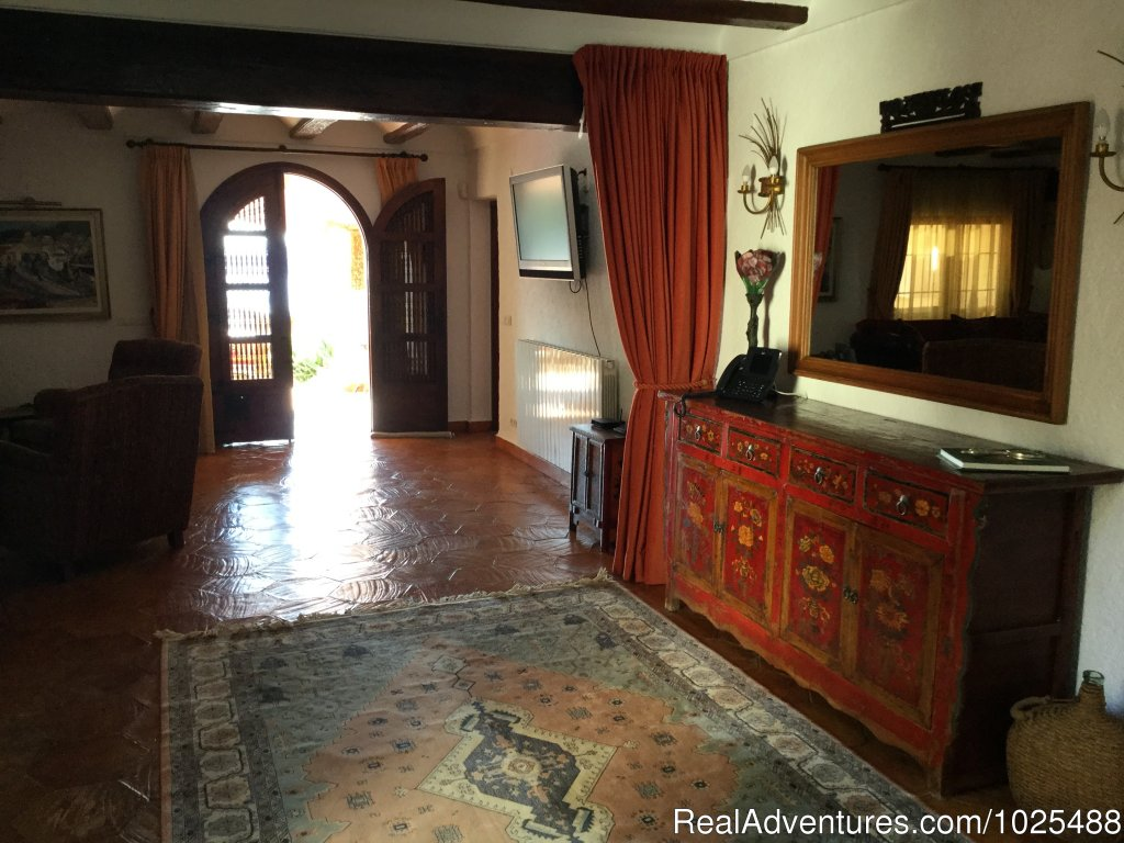 Entry Foyer & Living Room | Image #1/22 | Javea, Spain | Vacation Rentals | Quinta Quince- Luxury Spanish Villa for Rent