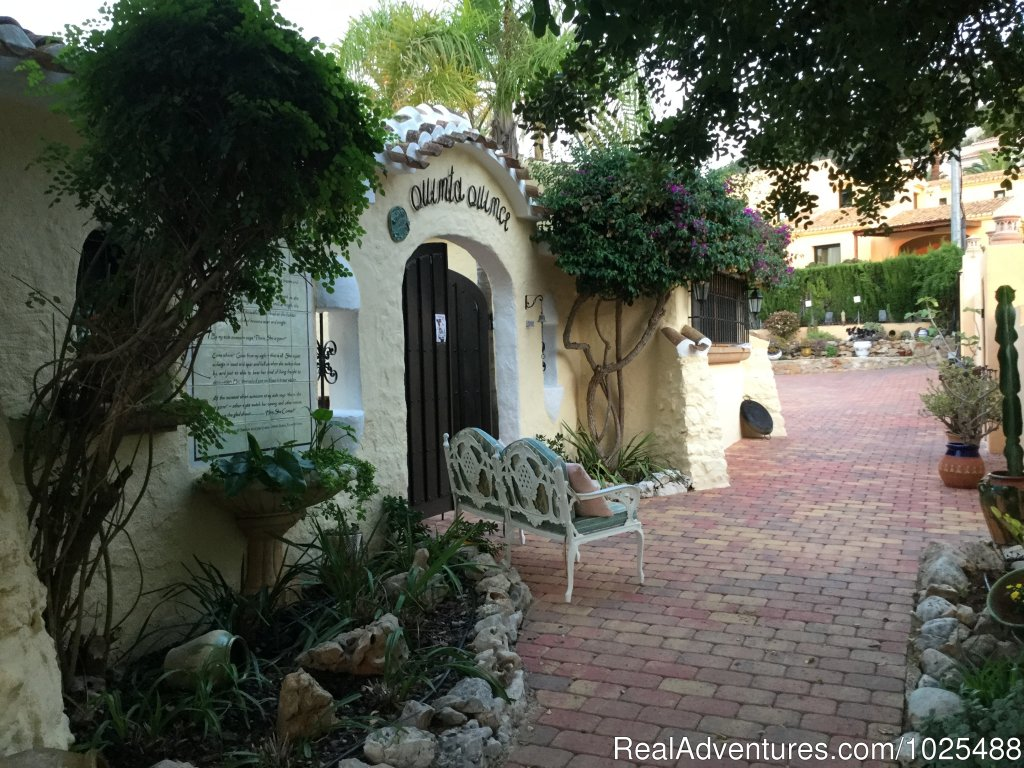 Inner gated Entrance and brick pathways. | Image #8/22 | Quinta Quince- Luxury Spanish Villa for Rent