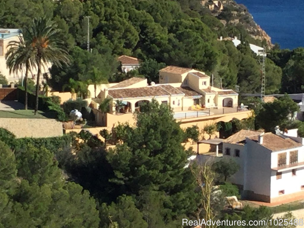View of house from the hill across from us. | Image #17/22 | Quinta Quince- Luxury Spanish Villa for Rent