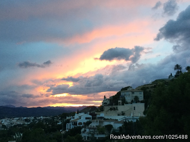 Sunset over the mountains - Quinta Quince- Luxury Spanish Villa for Rent