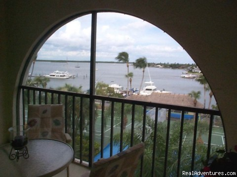 Waterfront Condo with Views of Marco Bay: View From Balcony