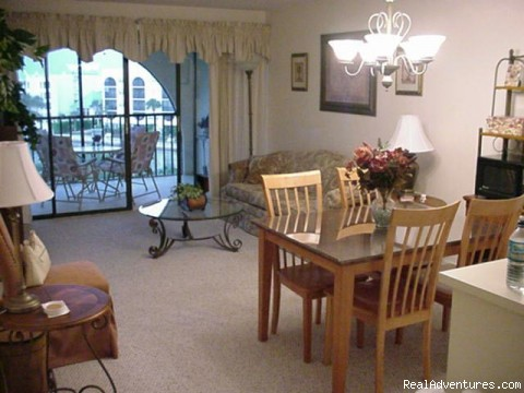 Living Room - Waterfront Condo with Views of Marco Bay