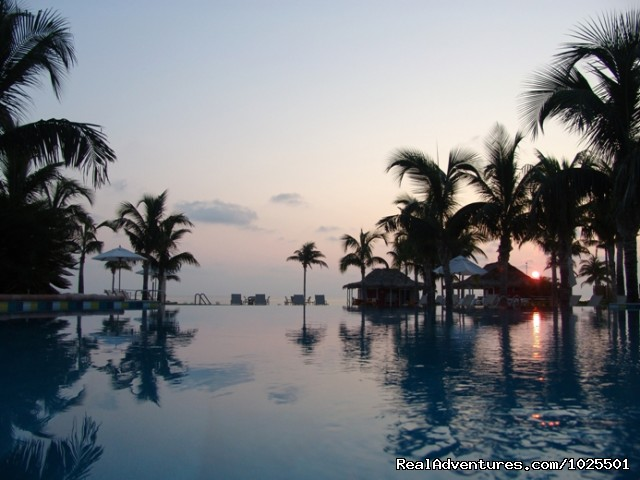 Pool at Dawn - Old Bahama Bay Resort & Yacht Harbour