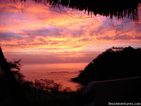 Sunrise from the Villa (#2 of 15) - Agua Azul la Villa B&B..Ocean views from all rooms