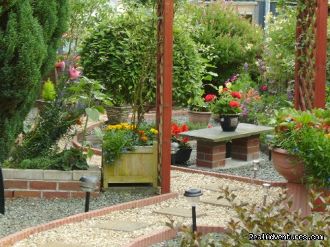 A section of our award winning garden. - Plasnewydd B&B. The finest place to stay in Wales.