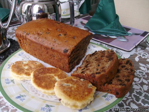 Bara Brith and Welsh cakes served with your beverage tray. - Plasnewydd B&B. The finest place to stay in Wales.