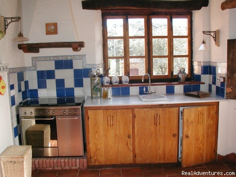 Kitchen in a large cabin - Cottages & Vacation Rentals in Huelva, Andalucia