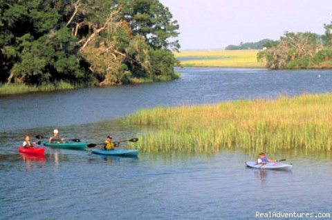 Gold & Gems Family Adventure - SC: Family kayaking in the Low Country