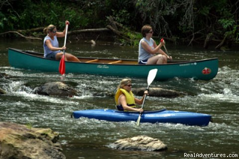 Paddling Down the Little Tennessee River - Great Smoky Mountain Excursion