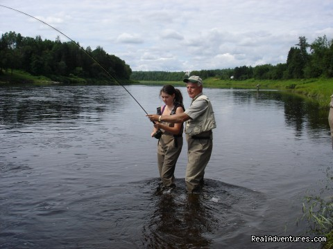 First timer having sucess on the Miramichi - Fishing Atlantic Salmon