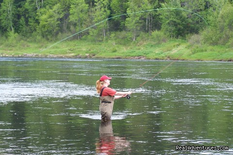 Lady week on the Miramich - Fishing Atlantic Salmon