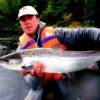 Guide Jeremy Vickers with July Atlantic Salmon