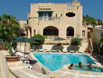 Villa Xemxija Front View - Gozo, Malta in Quality accommodation in Xlendi