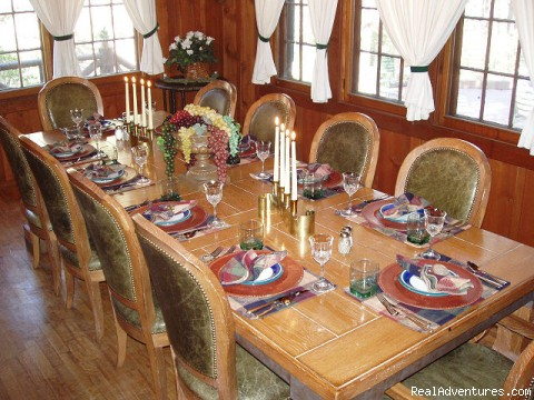 Lodge Dining Room - Rocky Mountain Lodge & Cabins: B&B & Cabin Rentals