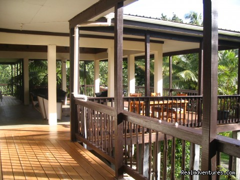 Side Veranda on main building - Scuba Dive at Tiliva Resort in Kadavu Fiji
