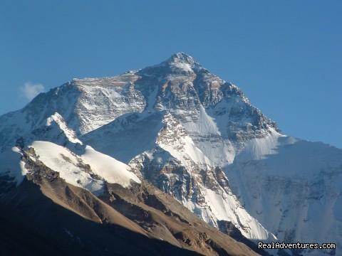 Mt. Everest from Rongbuk Monastery - Tibet - Explore Kathmandu - Lhasa - Kathmandu