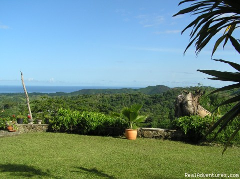 view from Windy Edge veranda - Windy Edge, Tobago, retreat on tropical island