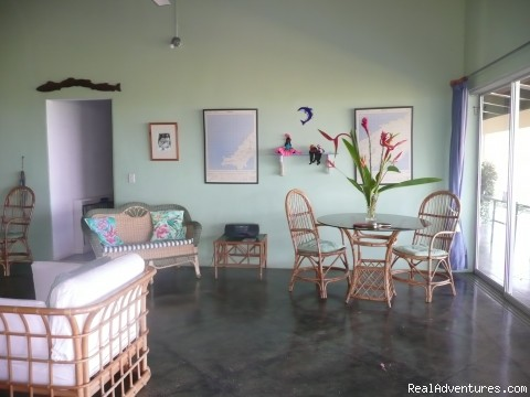 living room  - Windy Edge, Tobago, retreat on tropical island