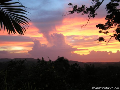 another sunset at Windy Edge - Windy Edge, Tobago, retreat on tropical island