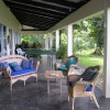Wide verandas surround the house