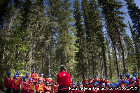Kicking Horse River Safety Briefing - Whitewater Rafting