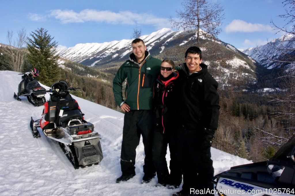 Enjoy a premiere snowmobile vacation in the Rocky Mountains of Western Montana. 1st Class lodging, hearty meals, knowledgable guides,  uncrowded trails, and breathtaking scenery add up to make this a winter vacation to remember! Call for reservations