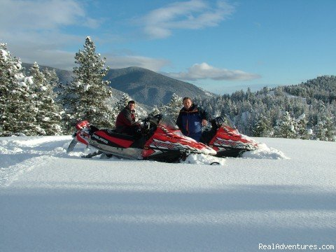 Fresh Powder | Image #2/15 | Rich Ranch Winter Snowmobiling Adventures
