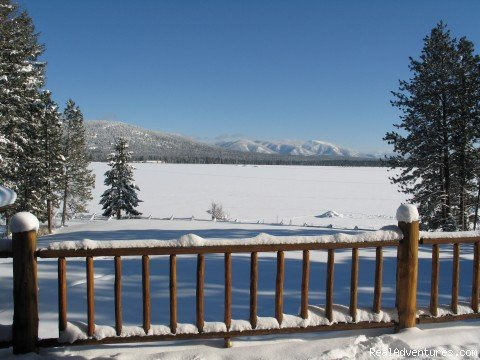 View from the lodge deck | Image #5/15 | Rich Ranch Winter Snowmobiling Adventures