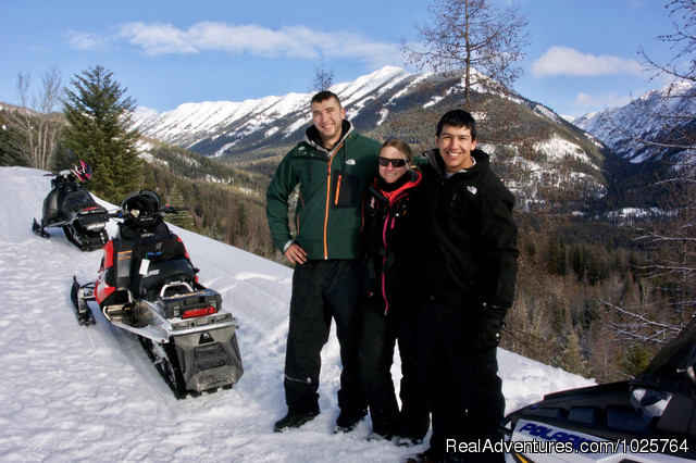 Spectacular Montana Scenery! - Rich Ranch Winter Snowmobiling Adventures
