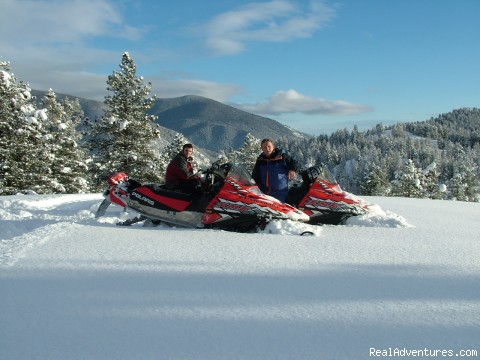 Fresh Powder - Rich Ranch Winter Snowmobiling Adventures
